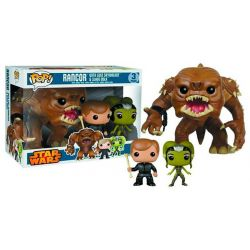 Figurine Star Wars pack 3 POP! Vinyl Rancor, Luke Skywalker & Slave Oola 9 - 15 cm