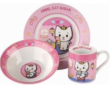 Set petit dejeuner Angel Cat Sugar