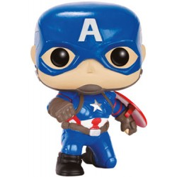 Captain America Civil War POP! Vinyl Bobble Head Captain America (Action Pose) 9 cm