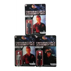 Terminator 2 ReAction assortiment figurines T-1000 10 cm (6)