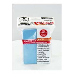 Ultimate Guard 80 pochettes Supreme Sleeves taille standard Bleu Clair Mat