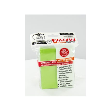 Ultimate Guard 80 pochettes Supreme Sleeves taille standard Vert Clair Mat
