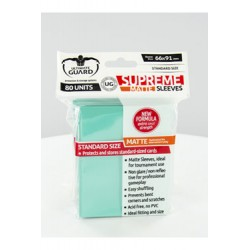 Ultimate Guard 80 pochettes Supreme Sleeves taille standard Turquoise Mat