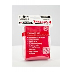 Ultimate Guard 80 pochettes Supreme Sleeves taille standard Rouge
