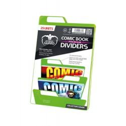 Ultimate Guard 25 intercalaires pour Comics Premium Comic Book Dividers Vert