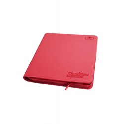 Ultimate Guard 12-Pocket QuadRow ZipFolio XenoSkin Rouge