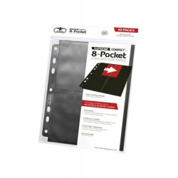 Ultimate Guard 8-Pocket Compact Pages Side-Loading Noir (10)