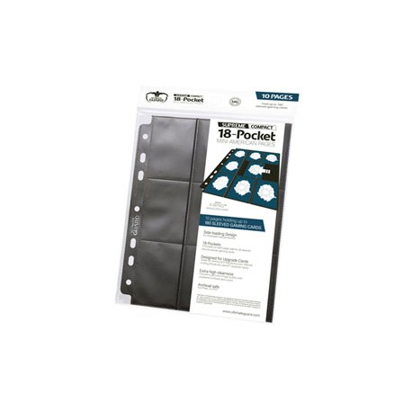 Ultimate Guard 18-Pocket Compact Pages Mini American Noir (10)