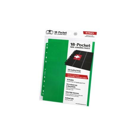 Ultimate Guard 18-Pocket Pages Side-Loading Vert (10)