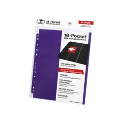 Ultimate Guard 18-Pocket Pages Side-Loading Violet (10)