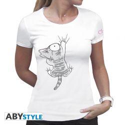 """T-Shirt CHI Tshirt """"Chi agrippé"""" femme BLANC"""