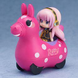 Hatsune Miku x CuteRody véhicule à friction avec figurine Megurine Luka 7 cm