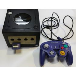 console gamecube noir avec manette