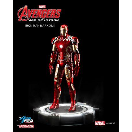 Avengers L'Ère d'Ultron statuette PVC Action Hero Vignette 1/9 Iron Man Mark XLIII Multi Pose 20 cm