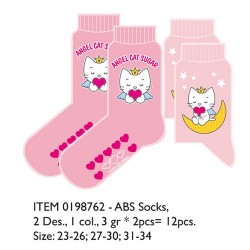 angel cat sugar - lot de 2 paires de chaussette
