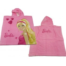 cape de bain , poncho barbie heart