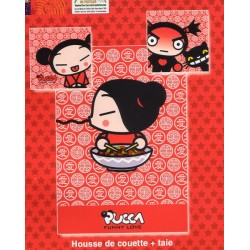 housse de couette + taie pucca