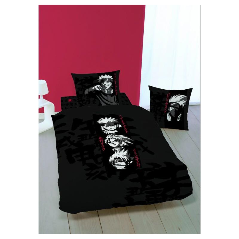 parure de lit naruto noir la boutique des. Black Bedroom Furniture Sets. Home Design Ideas