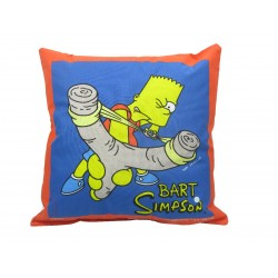 coussin simpsons : bart et sa fronde