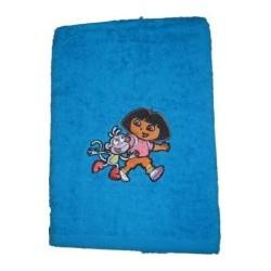 serviette éponge dora bleu