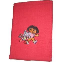 serviette éponge dora rouge