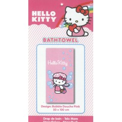 drap de bain hello kitty bubble douche pink