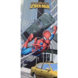 drap de plage spiderman car
