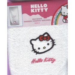 drap de bain hello kitty blanc