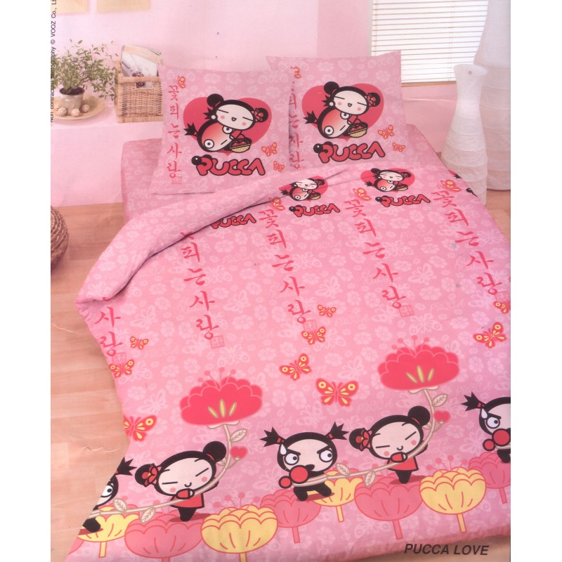 housse de couette pucca love 200x200. Black Bedroom Furniture Sets. Home Design Ideas
