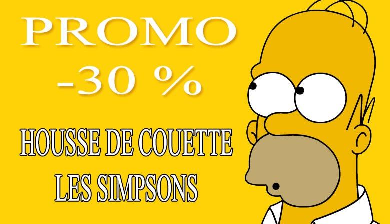 Promotion Housse de couette Simpsons